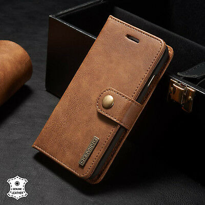 $ CDN19.99 • Buy Genuine Leather Flip RFID Wallet Magnetic Protective Case For IPhone 8 7 6-Brown