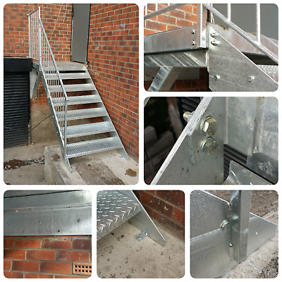 1m High Steel Staircase Metal Staircase Mezzanine Fire Escape £630 + VAT • 756£