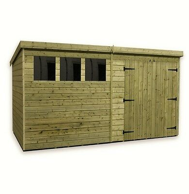 View Details WOODEN GARDEN SHED 10X8 12X8 14X8 PRESSURE TREATED TONGUE AND GROOVE PENT SHED • 660.25£