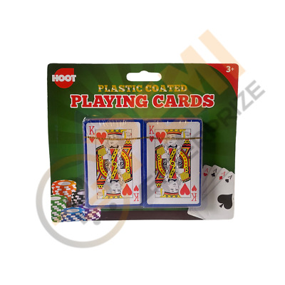 Pack Of 2 PLAYING CARDS-Poker Gambling Gaming Snap Deck Kings Queens FAST FREE • 2.35£