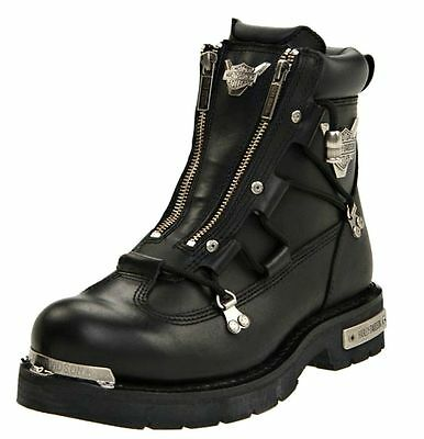 $ CDN190.22 • Buy HARLEY-DAVIDSON FOOTWEAR Men's Brake Light Black Leather Motorcycle Boots D91680