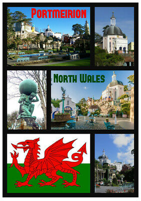 £2.15 • Buy Portmeirion, N / Wales - Souvenir Novelty Fridge Magnet - Gifts / Sights / Flags