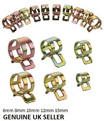 £0.99 • Buy Fuel Line Hose Spring Clips Water Pipe Air Tube Clamps 6/8/10/12/15mm