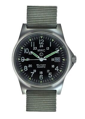 £72.50 • Buy MWC G10LM Military Watch   50m   1224   Screw Case Back   Grey Strap   Date