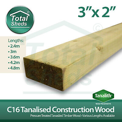 SPECIAL OFFER Pack Of 20 Lengths - 3x2 C16 Tanalised Timber Studwork  • 302.25£