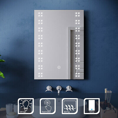 LED Illuminated Bathroom Mirror With Demister Touch Sensor Switch IP44 500x700mm • 59.99£