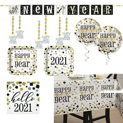 £4.45 • Buy New Years Eve Party Plates Napkins Tablecover Balloons Decorations Banner 2021