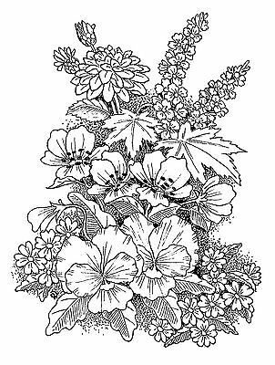 £8.99 • Buy Unmounted Rubber Stamp Floral Bloom 6030