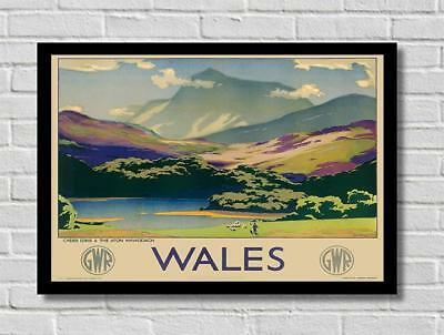 £3.99 • Buy Vintage Wales By Train GWR Railway Tourist Travel Poster Print Picture A3 A4