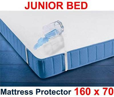 £8.99 • Buy Waterproof Mattress Protector 160 X 70cm/Junior Bed Breathable Terry Sheet Cover