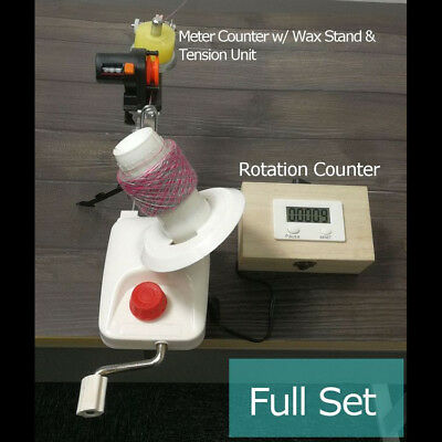Standard Yarn Ball Winder With Electric Rotation Counter & Meter Length Counter • 6.80£