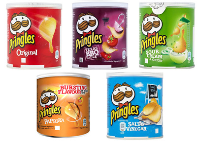 Pringles 40g Re-sealable Lid Pop & Go 5 Great Flavours Upto 60 Tubs From £6.33 • 37.99£