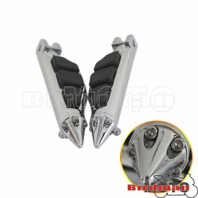 $33.82 • Buy Motorcycle Stiletto Style Front Foot Pegs Footrests For Suzuki M109R M50 Chrome