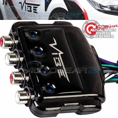 Vibe LOC4-V5 Car 4 Channel Speaker Wire To 4 Low Level RCA Output Line Convertor • 23.95£