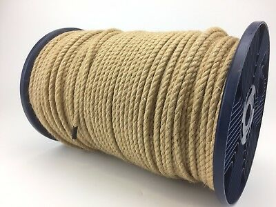 10mm Natural Jute Rope X 100m Reel, Twisted Cord Garden Decking Craft Hessian • 50£