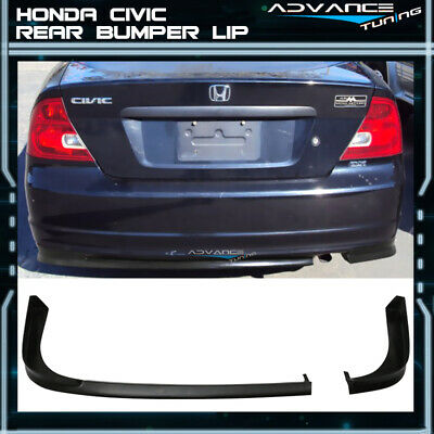 $134.99 • Buy For 01-03 Honda Civic 2Dr Coupe TR Style Rear Bumper Lip PU Unpainted Black