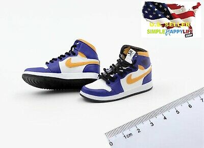 $17.84 • Buy 1/6 Male Sneakers Basketball Purple Shoes 12  Phicen Enterbay Kobe Hot Toys❶USA❶