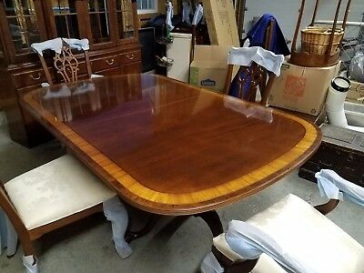 $3500 • Buy Ethan Allen 18th Century Mahogany Collection Dining Room Set