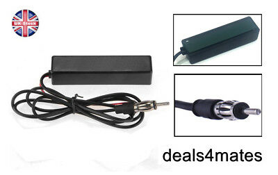 Electronic Auto Car Stereo Antenna AM FM Radio Hidden Amplified Aerial Universal • 4.99£