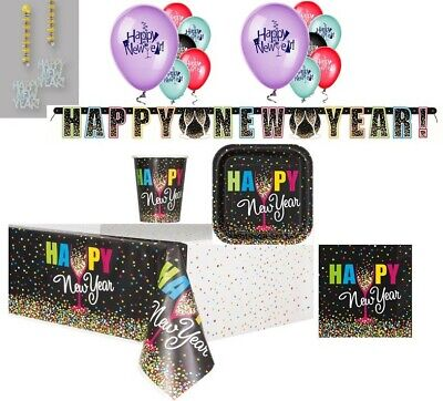 New Years Eve Party  Confetti  Design Plates Napkins Tablecover Balloons Decor • 3.75£
