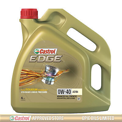 Castrol Edge TITANIUM 0W-40 FST A3/B4 Synthetic Engine Oil 0W40 4 Litres 4L • 42.95£