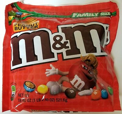 $14.99 • Buy NEW Sealed Peanut Butter M&M's Family Size 18.40 Oz Bag FREE WORLDWIDE SHIPPING
