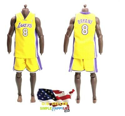 $34.89 • Buy 1/6 Scale Kobe Lakers YELLOW Jersey #8 For Hot Toys Phicen Enterbay Body ❶USA❶