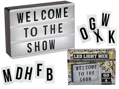 Illuminated Display Board With 60 Letters & Symbols - LED Light Box • 8.99£