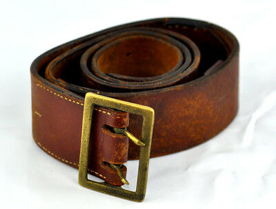 Wwii Military German Officer Leather Belt  • 59£