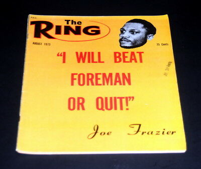 $9.99 • Buy The Ring Boxing Magazine August 1973 Joe Frazier