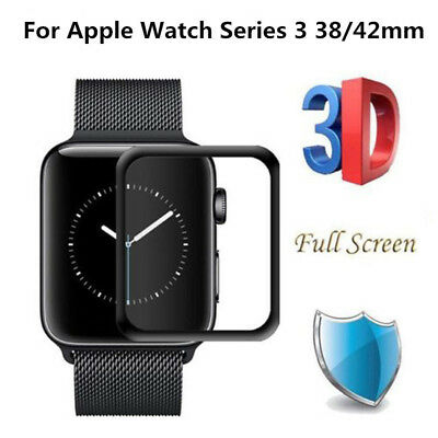 $ CDN5.08 • Buy New For Apple Watch Series 3 3D Tempered Glass Film Screen Protector 38mm 42mm