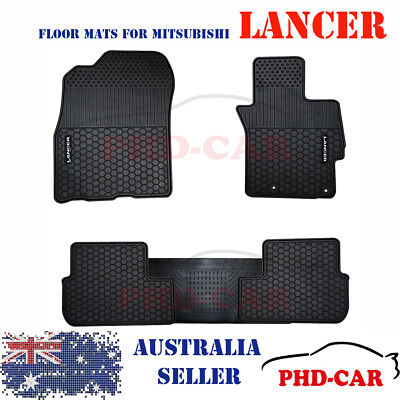 AU89 • Buy Mitsubishi Lancer Tailored All Weather Rubber Car Floor Mats Premium Quality