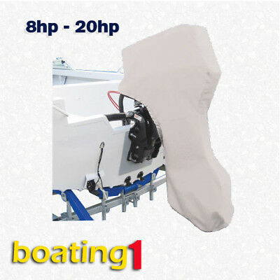 AU33.90 • Buy  Full Outboard Boat Motor Engine Cover Dust Rain Protection Grey - 8hp - 20hp