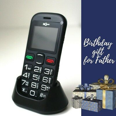 Senior People Mobile Phone Big Dial Buttons SOSFunction Birthday Gift For Father • 22.90£