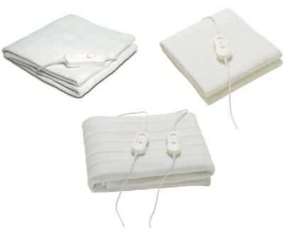 Washable Single/Double/King Electric Under Bed Heated Blanket Comfy Night • 16.99£