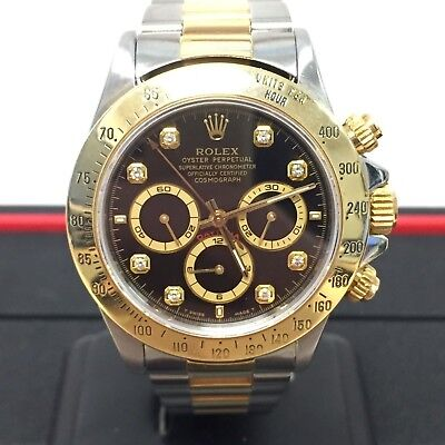 $13000 • Buy 1997 Rolex ♛ SS + 18k Daytona Cosomograph Zenith Movement Black Dial (20470)