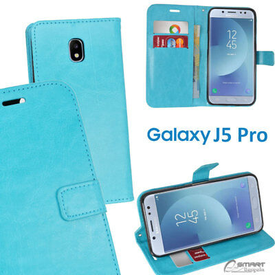 AU6.99 • Buy Aqua Blue Wallet Flip Card Slot Stand Case Cover For Samsung Galaxy J5 Pro