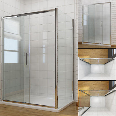 Shower Enclosure And Tray Sliding Door + Side Panel 6mm/8mm Glass Shower Cubicle • 127.99£