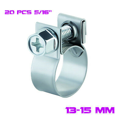 $8.89 • Buy 20 X 5/16  FUEL INJECTION HOSE CLAMP / AUTO Fuel Clamps NEW