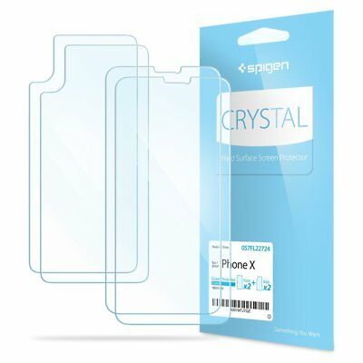AU10.37 • Buy Spigen® Apple IPhone X [Film Crystal] Case Friendly Screen Protector - [2PK]
