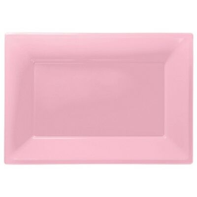 Pink Plastic Serving Platters | Tray Party Buffet Food Celebration BBQ Wedding  • 3.49£