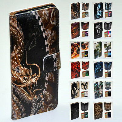 AU14.98 • Buy For Sony Xperia Series - Dragon Theme Print Wallet Mobile Phone Case Cover