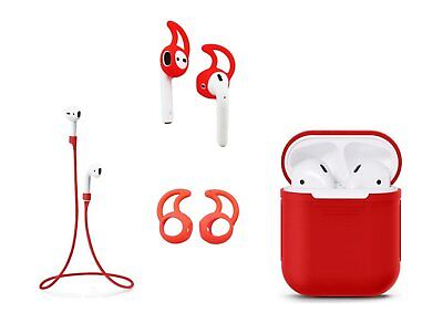 $ CDN8.45 • Buy Zotech Accessory Pack For AirPods (1Cover, 1neck Strap And 2Pair Earhooks) Red