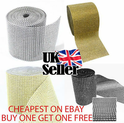 £1.60 • Buy 1M Diamante Effect Ribbon With Different Colours Cake Trim Sewing Bridal Lace