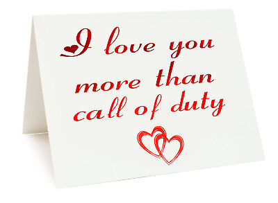 £3.25 • Buy Anniversary Valentines Day Birthday Card - I Love You More Than Call Of Duty