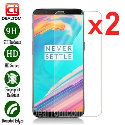 AU4.28 • Buy 1/2x For OnePlus 5T Life 6.01  / OnePlus 6 Tempered Glass Screen Protector Guard