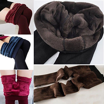 £6.89 • Buy Women Ladies Warm Winter Thick Pant Fleece Lined Thermal Stretchy Leggings Pants