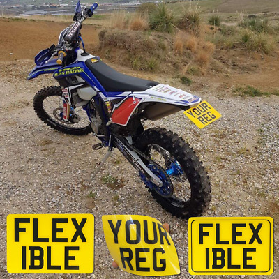 Personalised 7x5  Kids Name Number Plates Childrens Toy Car Enduro Motorcycle • 10.99£