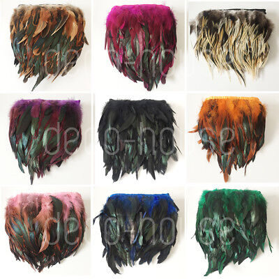 £2.39 • Buy Rooster Rare Feathers Coque Fringe Craft Trim Sewing Costume Millinery Collar