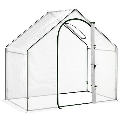 £32.99 • Buy Outsunny 1.8M Portable Walk-in PVC Greenhouse With Steel Frame Flowers Plant